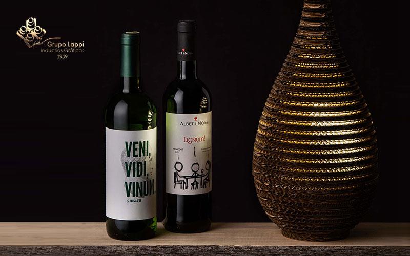 etiquetas vino y cava