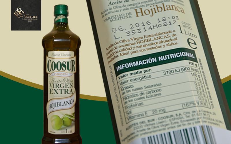 etiquetas aceite de oliva